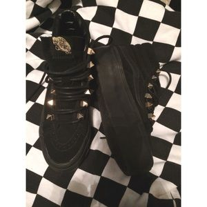 e98b58b66215 Vans Shoes - Make an offer black gold stud vans sk8 hi platform